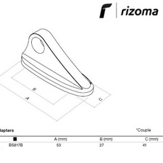 RIZOMA BS817B - Mirror adapter