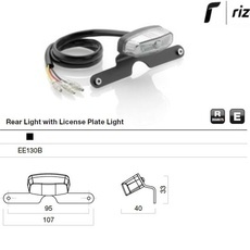 RIZOMA EE130B - Tail light kit with license plate light