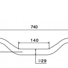RIZOMA MA006A 1-1/8 inch Diameter Tapered handlebars - Silver