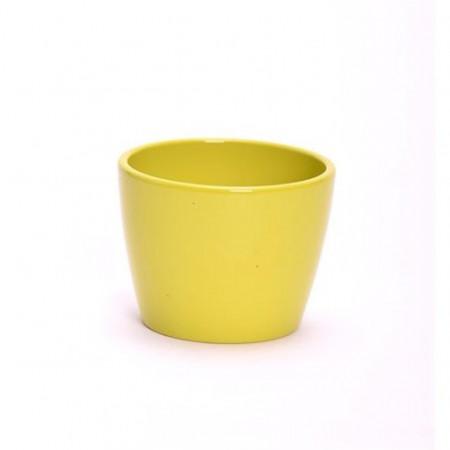 Ghiveci decorativ ceramica 10 cm galben