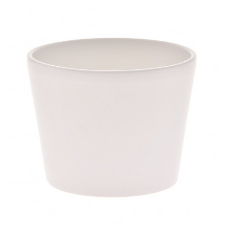 Ghiveci Calypso ceramica 13 cm alb