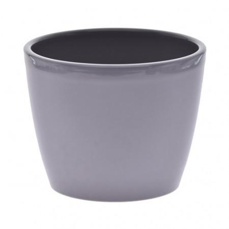 Ghiveci decorativ ceramica 14 cm gri