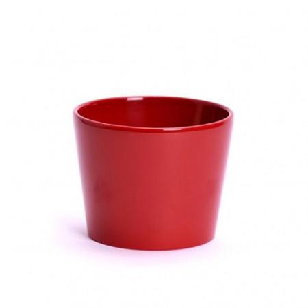 Ghiveci Calypso ceramica 13 cm rosu