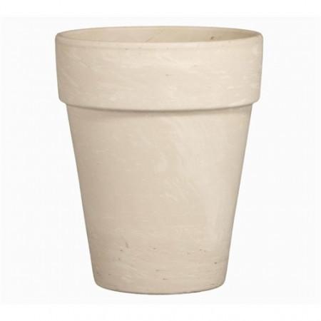 Ghiveci lut ceramica teracota 17 cm alb