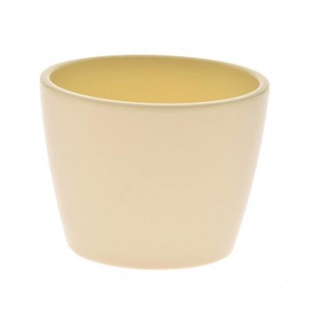 Ghiveci decorativ ceramica 10 cm crem