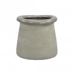 Ghiveci rotund ceramica 14,5 x 13,5 cm, gri