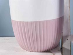 Ghiveci ceramic striat Ø 13,5 cm x 13 H