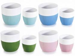 Ghiveci ceramic striat Ø 10,5 x 10 H