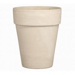 Ghiveci lut ceramica 26 cm alb