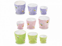 Ghiveci ceramic imprimeu albine Ø 8 x 7 H