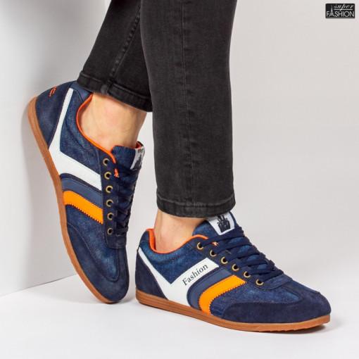 Pantofi Sport ''23DEC. M9029-63 Navy Orange'' [S10E7]