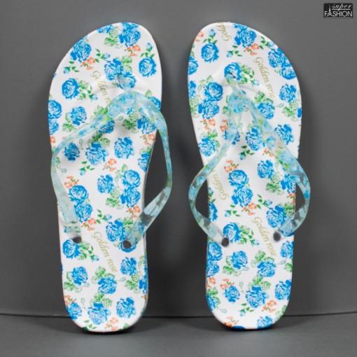 papuci dama cu design floral