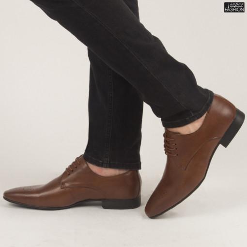 Pantofi ''OUGE RO-009 Brown'' [S7F2]