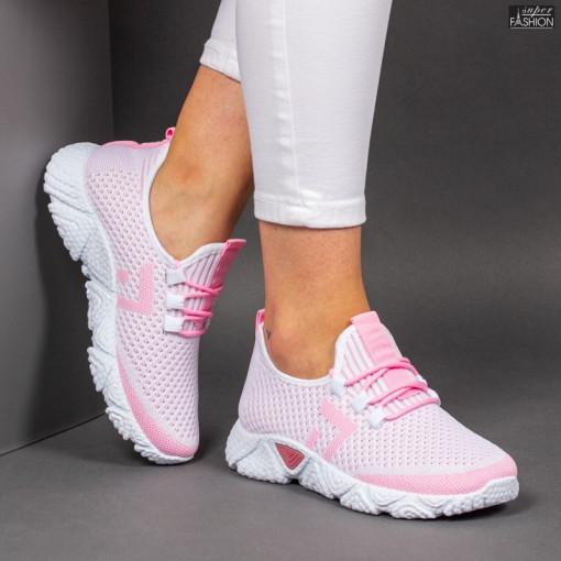 Pantofi Sport ''ALD Fashion HQ-203-246 White Pink'' [D1E7]