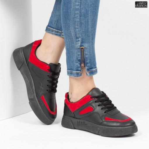 Pantofi Sport ''ALD Fashion HQ-81 Black'' [D19E13]