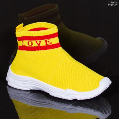 pantofi sport fete tip soseta