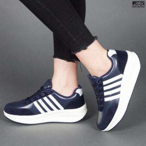 Pantofi sport ''Sport Shoes 03 Deep Blue White'' [D8C3]
