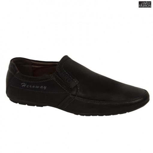 """Pantofi ''HeroWay A8005-9 Black"""" [S1E4]"""