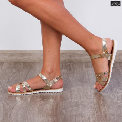 sandale dama aurii