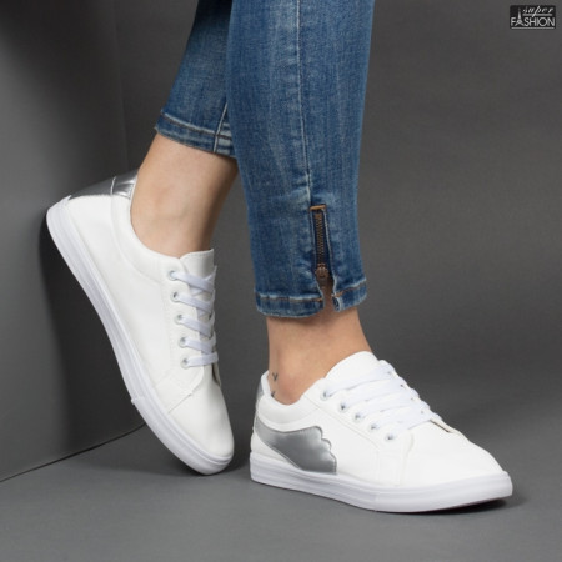 Pantofi Sport ''ALD Fashion HQ-117 White Silver'' [D12C3]