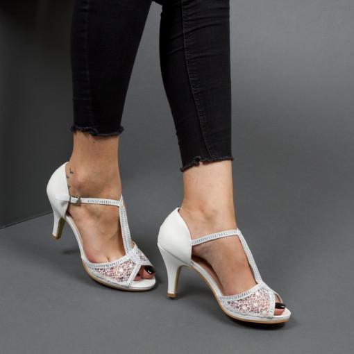 Sandale ''Mei Fashion QZL9803 White'' [D7F7]