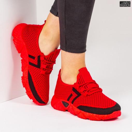 Pantofi Sport ''ALD Fashion HQ-203-247 Red Black'' [D5D2]