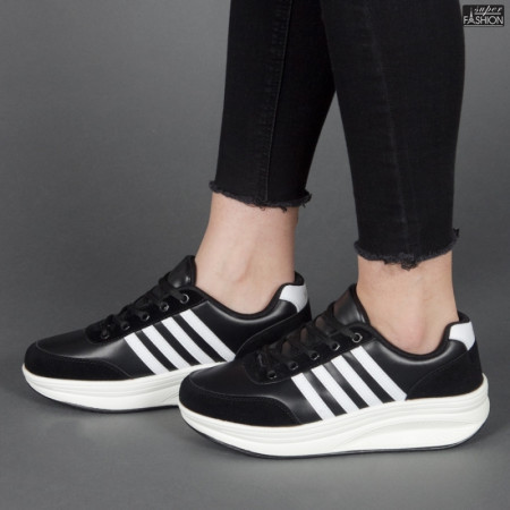 Pantofi sport ''Sport Shoes 03 Black White'' [D7C1]
