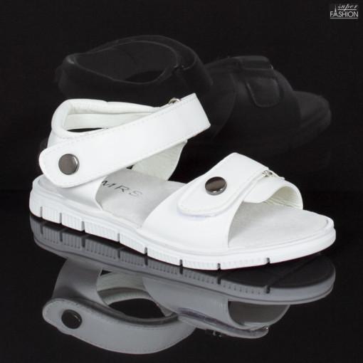 sandale fete albe