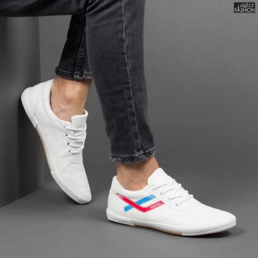pantofi sport barbati albi