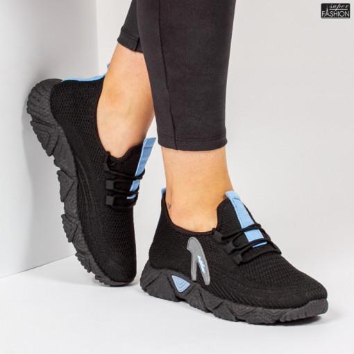 Pantofi Sport ''ALD Fashion HQ-202-233 Black W. Blue'' [D1D7]