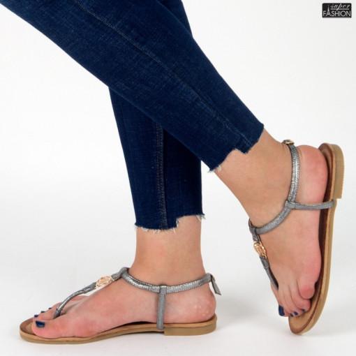 sandale dama gri