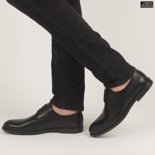 Pantofi ''OUGE RO-001 Black'' [S6F1]