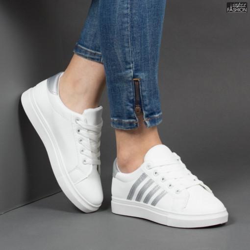 Pantofi Sport ''BAO SPORT 8001 White Silver'' [D8A1]