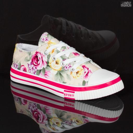 tenisi fete cu design floral