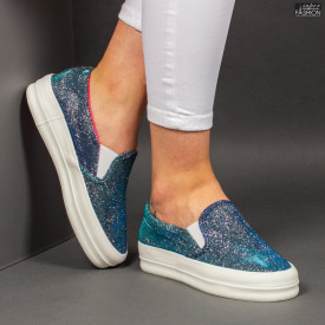 """Espadrile """"D.L. Fashion 5078 Blue """""""