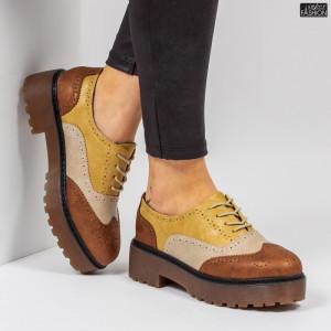 Pantofi ''Lavy Fashion GQ20 Camel'' [D4E10]