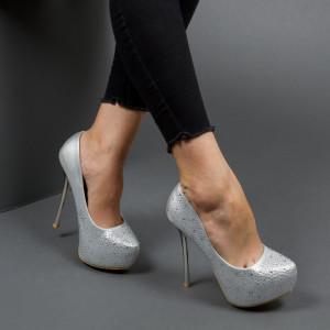 Pantofi ''Mei Fashion OLG1F03 Silver''