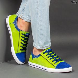 Pantofi Sport ''23DEC. M9027-37 Green Royal'' [S12E8]