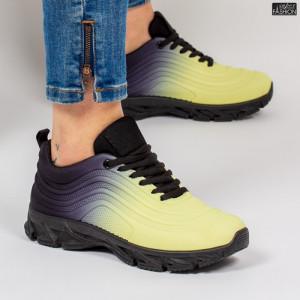 Pantofi Sport ''ABC J1836 Yellow Black'' [D6C2]
