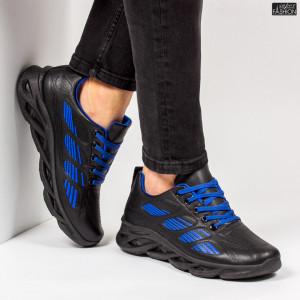 "Pantofi Sport ""ALD Fashion HQ-103-070 Black R. Blue''"