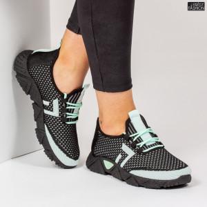 Pantofi Sport ''ALD Fashion HQ-203-242 Black L. Green'' [D20E1]