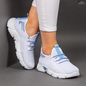 Pantofi Sport ''ALD Fashion HQ-205-251 White W. Blue'' [D9E9]