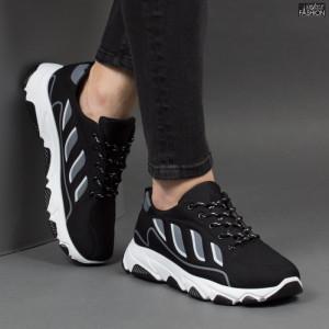 Pantofi Sport ''Fashion Balq G-002 Black Grey''