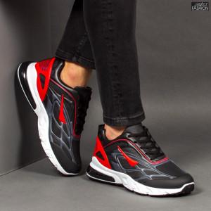 Pantofi Sport ''Fashion Balq N-05 Black Red'' [S11D11]