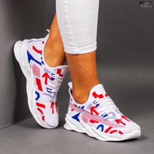 "Pantofi Sport ""Meek B-11 White Red Blue"""
