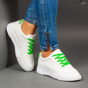 Pantofi Sport ''Se7.en X-2906 White Green''