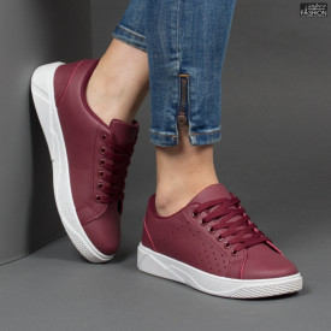 Pantofi Sport ''Veer Fashion F1826-4 Wine Red''