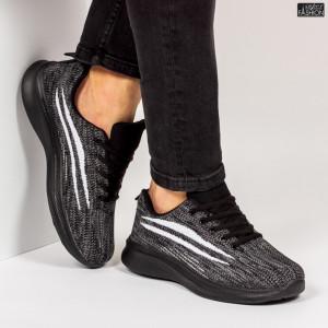 """Pantofi Sport """"WE Fashion 8805 Black White'' [S13D7]"""