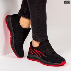 "Pantofi Sport ""WE Fashion G01-2 Black Red'' [S13D4]"