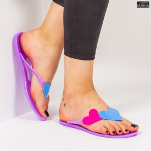 Papuci ''WE Fashion JLT258 Purple''